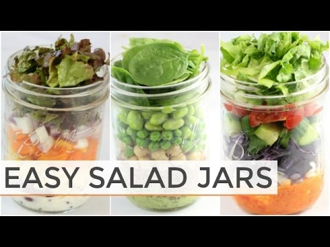 3 SALAD-IN-A-JAR RECIPES | Easy Meal Prep