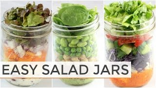3 Salad-In-A Jar Recipes | Easy Meal Prep