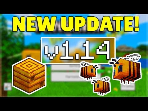 MCPE/Bedrock 1.14 BUZZY BEES Update RELEASED! Minecraft Pocket Edition Bees & PS4 Bedrock Launch