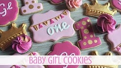 How to Decorate Baby Girl Birthday Sugar Cookies
