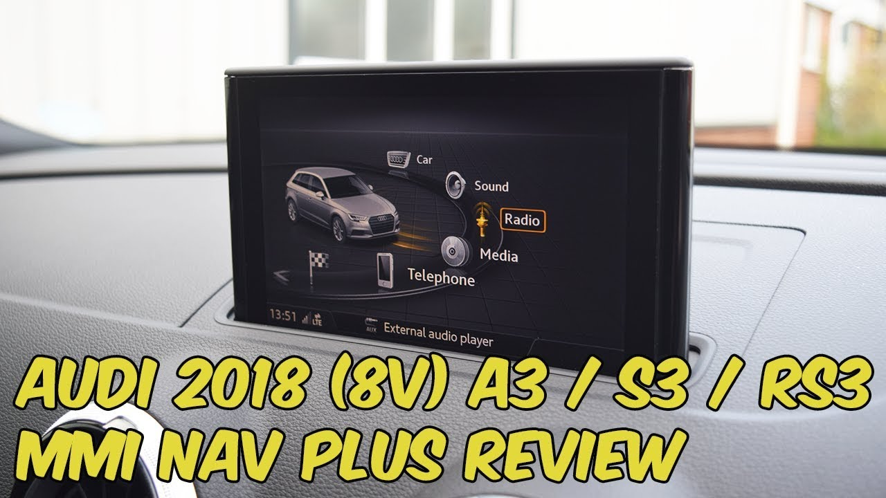 audi a3 s3 rs3 2018 mmi navigation plus with audi connect review youtube. Black Bedroom Furniture Sets. Home Design Ideas