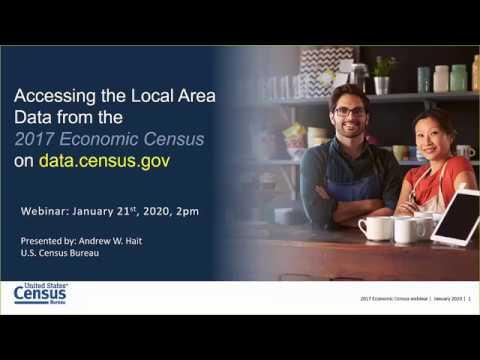 Accessing The Economic Census Local Area Data On Data Census Gov    Tips And Tricks