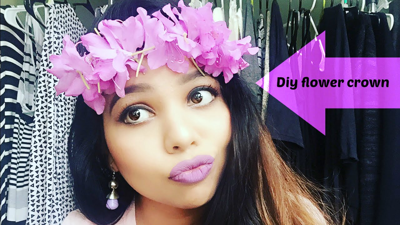 Diy Summer Flower Crown Cheap And Easy Diy Flower Tiara Youtube
