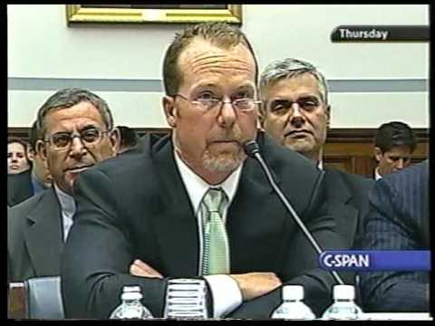 Mark McGwire testifying to Congress (poorly)