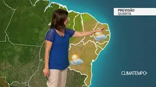 Previsão Nordeste – VCAN reduz a chuva nesta quarta