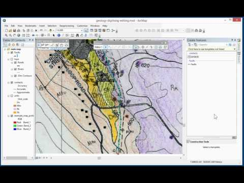 Digitising a Geological map in ArcGIS Desktop 10.3 (Part 4 of 4)