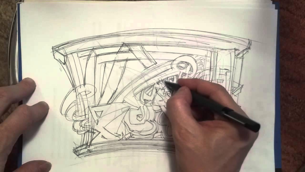 Disegnare A Matita 0 5 Disegno Futurista Metafisico Ed Hip Hop Youtube