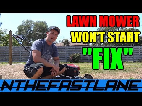 "Lawn Mower Won't Start? Here's The ""FIX"""