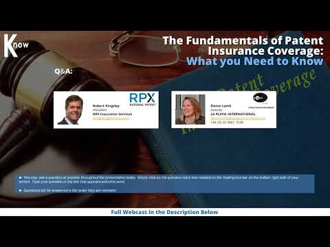 Fundamentals of Patent Insurance Coverage