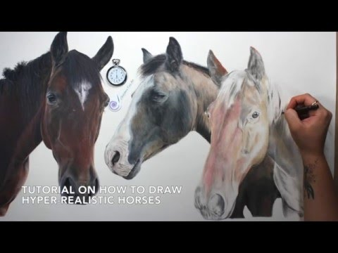 TUTORIAL #13: How to draw realistic horses and the importance of layering
