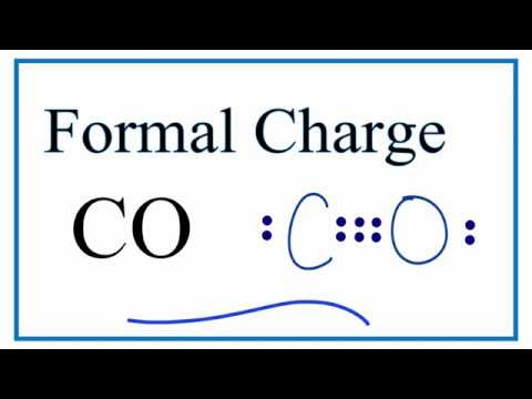 How To Calculate The Formal Charges For Co Carbon Monoxide Youtube