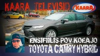 Miltä tuntuu uusi Toyota Camry Hybrid vuosimallia 2019? Ensifiilis POV-koeajovideona