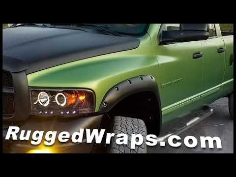 RuggedWraps.com Tough Truck Jeep Vinyl Wrap Bed Liner - Removable