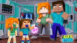 Minecraft BABY ALEX & BABY STEVE SAVE THEIR MOM'S LIFE!!! Life of Alex & Steve