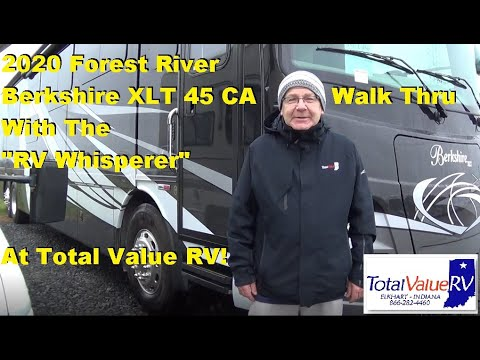 """Download 2020 Forest River Berkshire XLT 45 CA Walk Thru with the """"RV Whisperer"""", Now at Lazydays RV!"""
