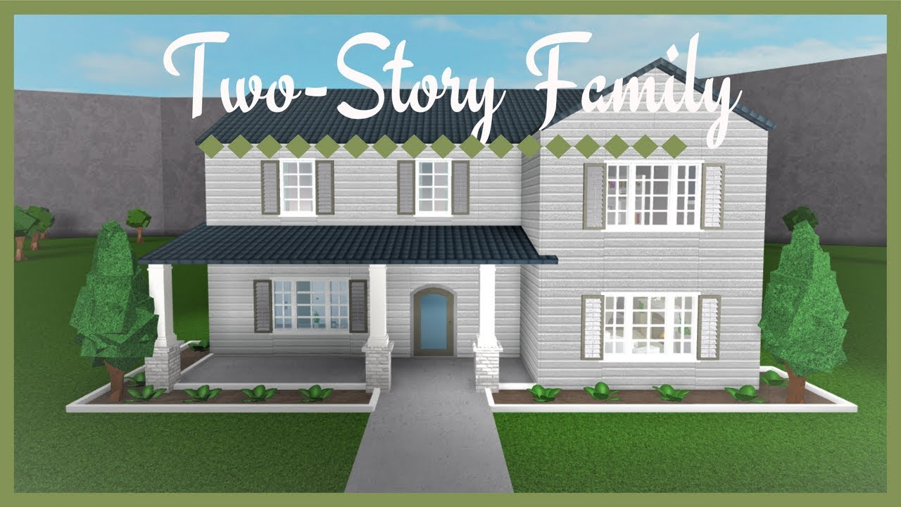 Two Story Family Home Roblox Bloxburg Houses 2 Story Roblox Speedbuild Welcome To Bloxburg 20k 2 Floor House Cuitan