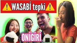 Japon Arkadaşlarımla Onigiri yaptık.  Wasabi tepkisi⚠️