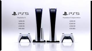 PS5 Price's - Digital and Disc Edition