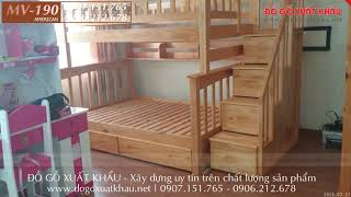 Giường tầng Vũng Tàu, giường tầng cho bố mẹ và bé gỗ tự nhiên tại phường 1 TP Vũng Tàu 2020