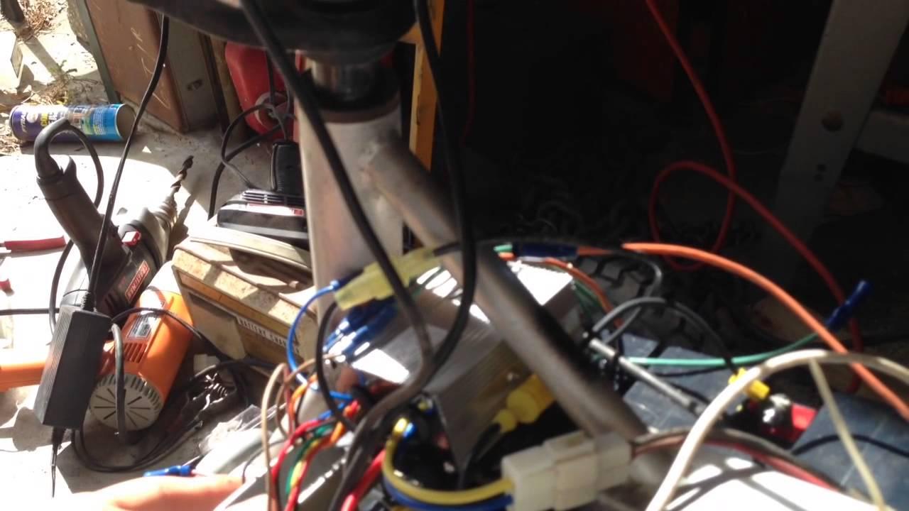 razor dirt quad 36 volt upgrade part 3 [ 1280 x 720 Pixel ]