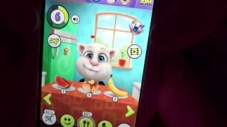 Детский обзор игры My talking Tom Мой Говорящий Том кот