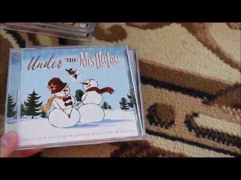 My very first Christmas card this season/ My Christmas CD collection