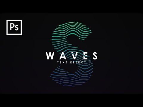Cara Membuat Desain Waves Text Effect dg Photoshop - Photoshop Tutorial Indonesia