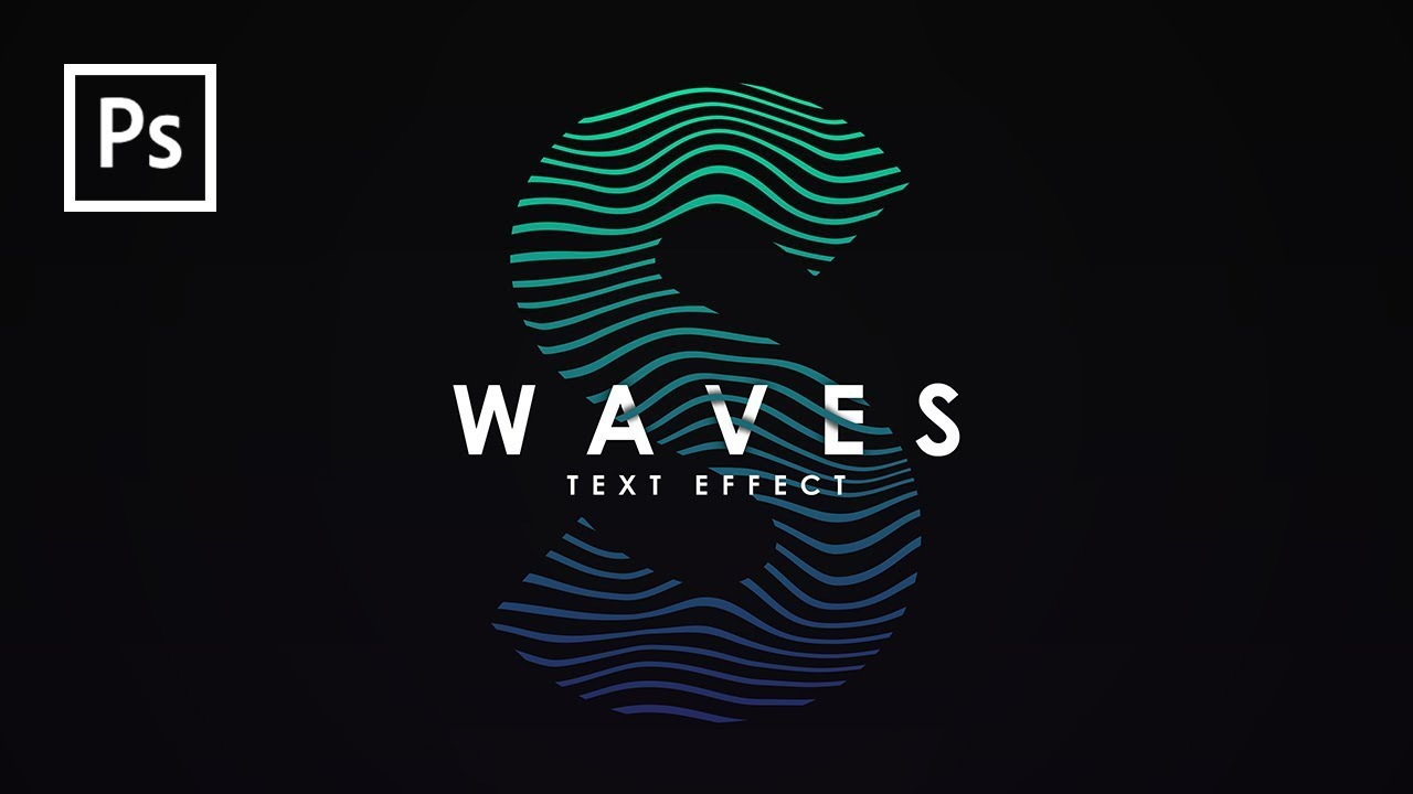 Desain Indonesia Cara Membuat Desain Waves Text Effect Dg Photoshop Photoshop Tutorial Indonesia