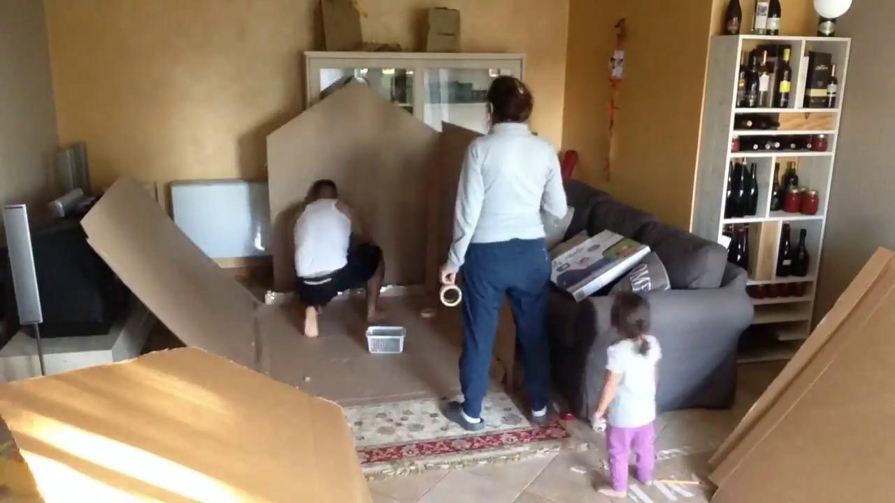 Creazione di una casetta di cartone per bimbi youtube - Casa di cartone ...