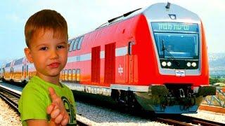 Едем на ПОЕЗДЕ  Тель Авив Хайфа.Железные дороги Израиля. Жизнь в Израиле.