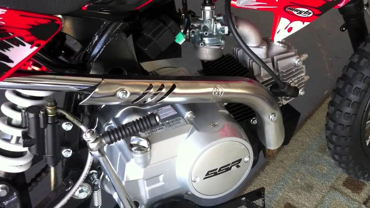 110cc ssr dirt bike pit motorcycle kick start problem [ 1280 x 720 Pixel ]
