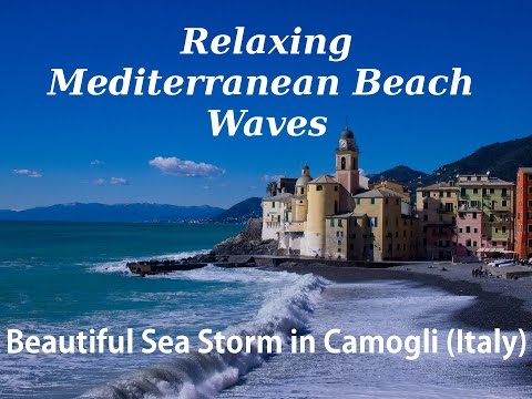 Relaxing sound of the waves of the Mediterranean Sea after a storm in Camogli (Italy) 자장가