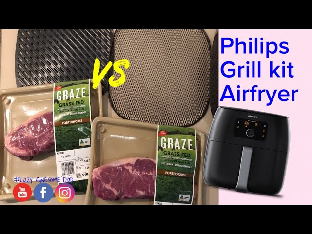 Airfried Steaks Philips Grill Master Kit Plate Versus Original For Philips Airfryer Xxl Hd9951 01 Youtube