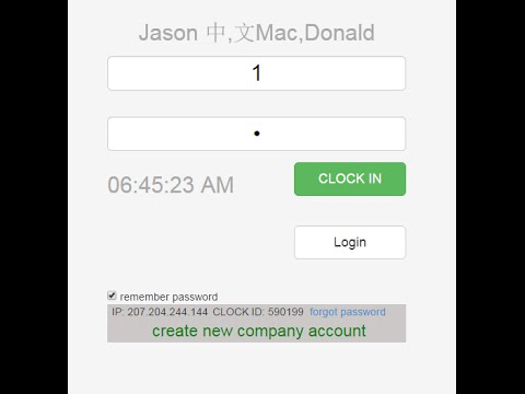 How to use opentimeclock.com web based time clock system