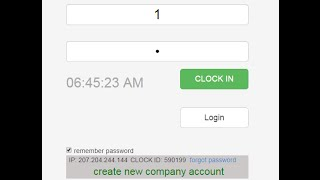 how to use opentimeclock com web based time clock system