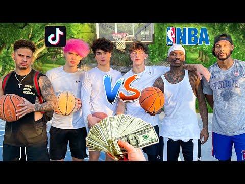 TikTokers vs Professional Basketball Players! ($10,000 Challenge)