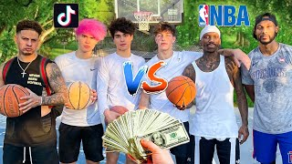TikTokers vs Professional Basketball Players! ($10,000 Challenge)