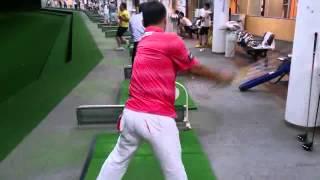 LDJ 副会長の太田勝規プロの練習動画です。 恐ろしいスイングスピードで...