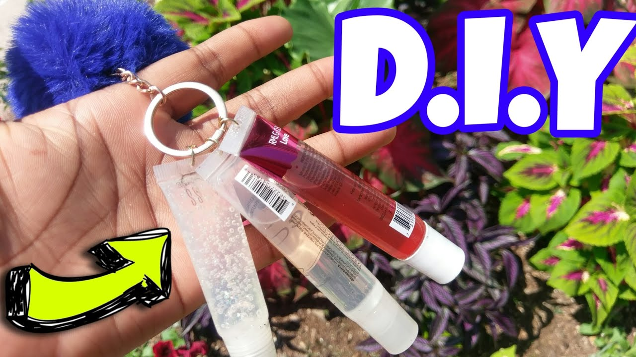 How To Make A Lip Gloss Key Chain Affordable Easy Youtube