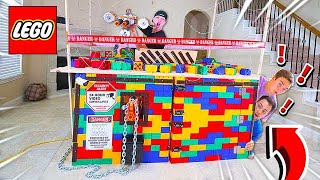 2 NOOBS TRY TO BREAK INTO WORLDS SAFEST LEGO HOUSE!