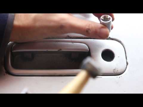 VW Golf MK4 Removing Tailgate Lock Barrel - How to Replace Boot Lock from Handle