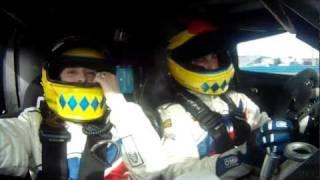 Joao Barbosa takes wife on a wild ride around Daytona highbanks in a 2 seater DP.mov thumbnail