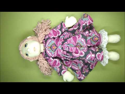 Rag Doll Outfit Making  - Traditional Dress Part 4 - Collar, Frills & Buttons - Alice's Bear Shop