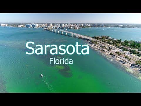 Aerial Of Sarasota And Surrounding Keys In 4k