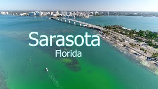 Aerial of Sarasota and Surrounding Keys in 4k