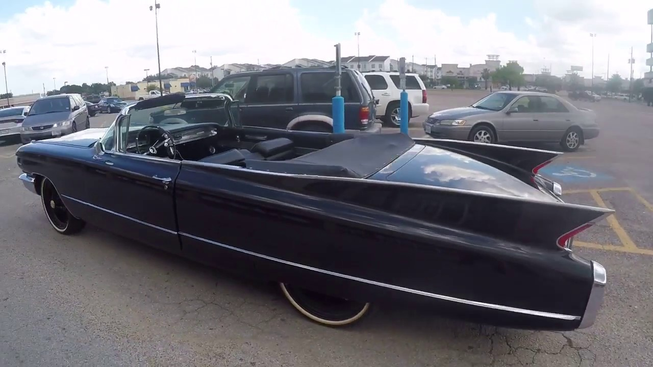 big black beautiful 1960 cadillac convertible - youtube