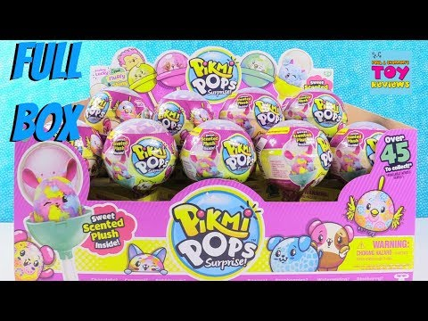 Giant Pikmi Pops Surprise Scented Plush Palooza Full Box Opening Toy Review | PSToyReviews