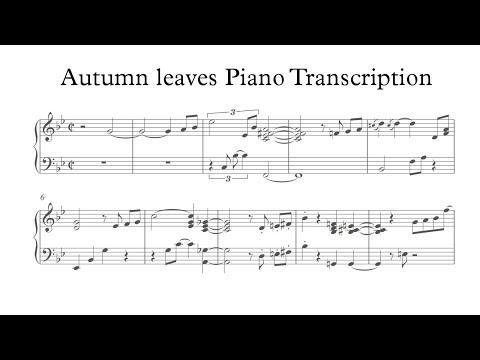 Autumn Leaves - Yohan Kim (Piano transcription)