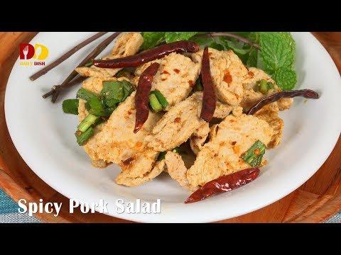 Spicy Pork Salad | Thai Food | Yum Moo Kao Kua | ยำหมูข้าวคั่ว - วันที่ 03 Feb 2018