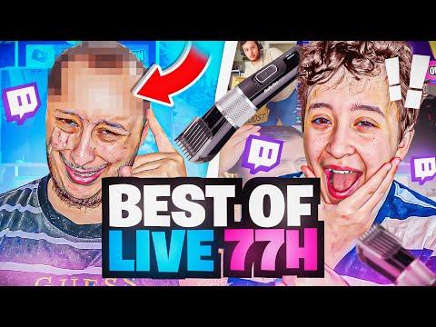 Il a la CALVITIE à 21 ans ! BEST OF LIVE 77H ! (record de stream)